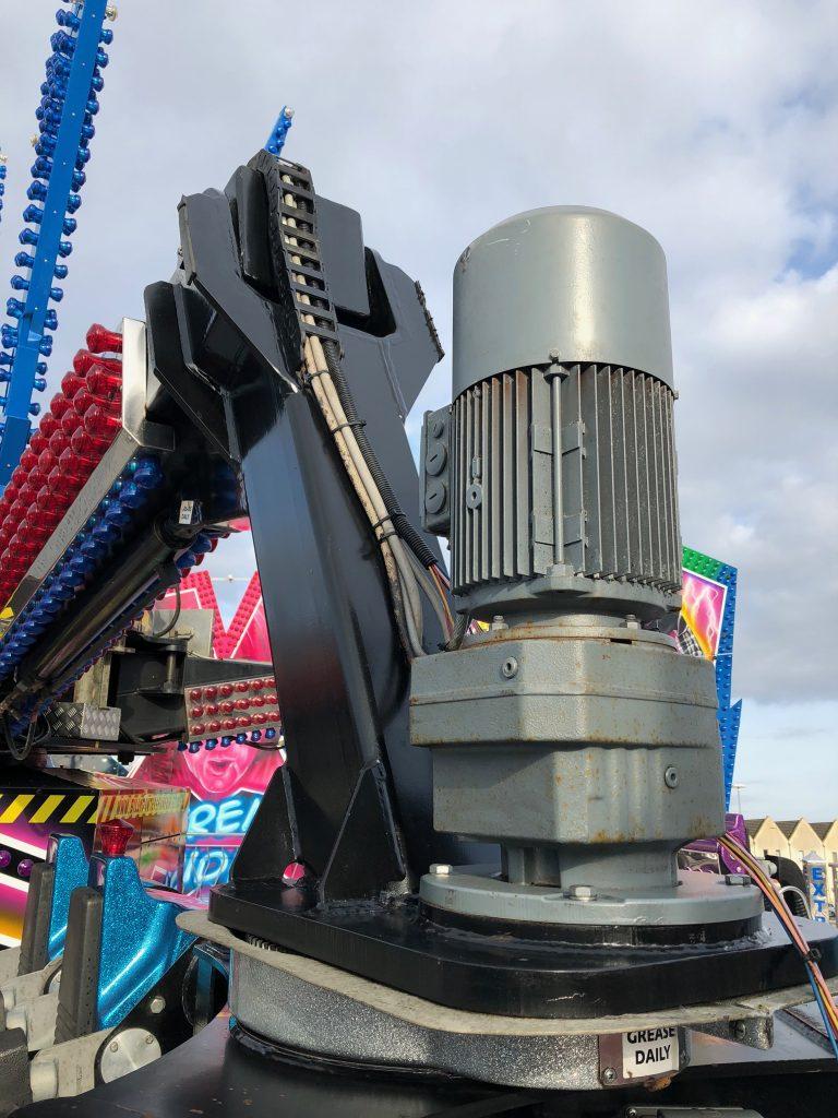 Fun Fair ride stripped down for NDT testing
